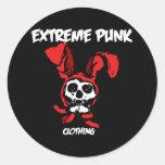 Extreme Punk Rabbit Skull Stickers