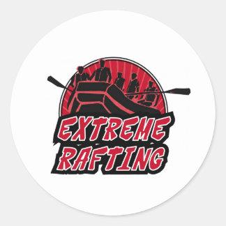Extreme Rafting Classic Round Sticker