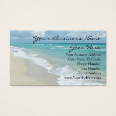 Extreme Relaxation Beach Elegant Spa Travel Business Card at Zazzle