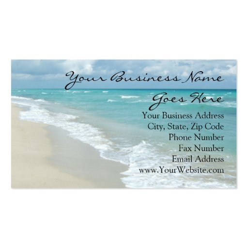 Extreme Relaxation Beach View Business Cards