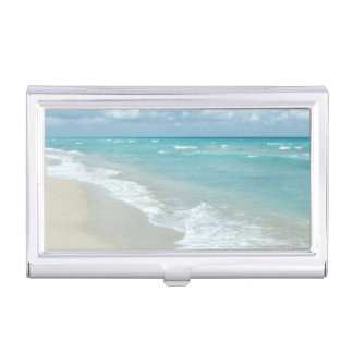 Extreme Relaxation Beach View Business Card Case