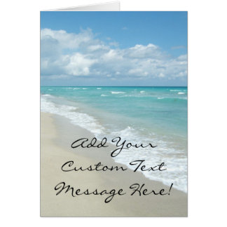 Extreme Relaxation Beach View Greeting Card