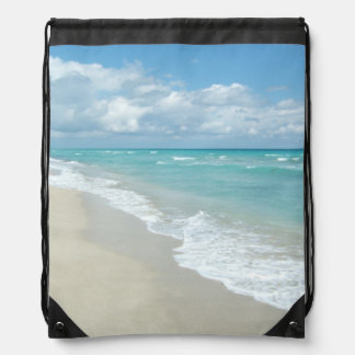 Extreme Relaxation Beach View Drawstring Backpack