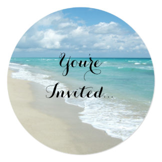 Extreme Relaxation Beach View 5.25x5.25 Square Paper Invitation Card