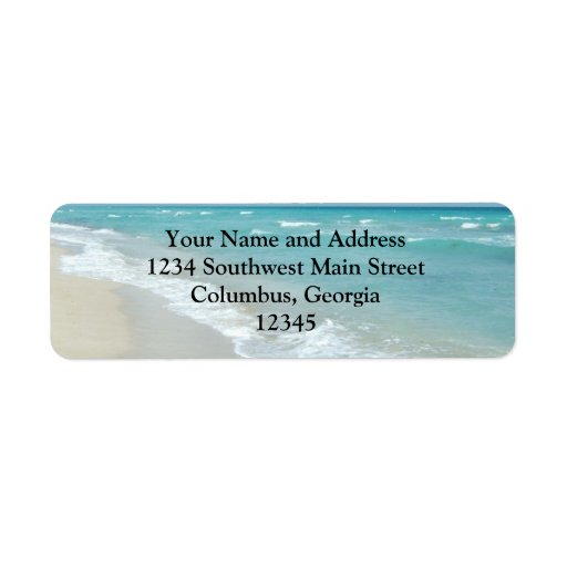 Extreme Relaxation Beach View Return Address Labels