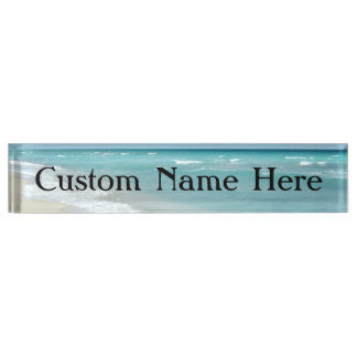 Extreme Relaxation Beach View Ocean Nameplate