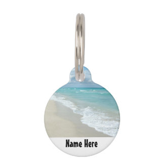 Extreme Relaxation Beach View Pet Name Tag