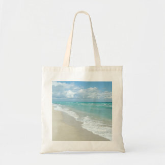 Extreme Relaxation Beach View White Sand Budget Tote Bag