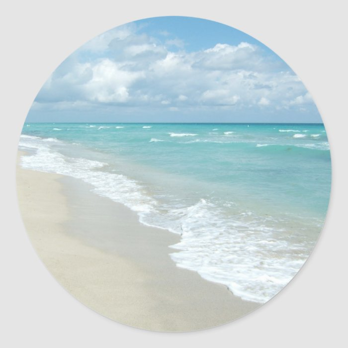 Extreme Relaxation Beach View White Sand Classic Round Sticker
