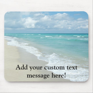 Extreme Relaxation Beach View White Sand Mouse Pad
