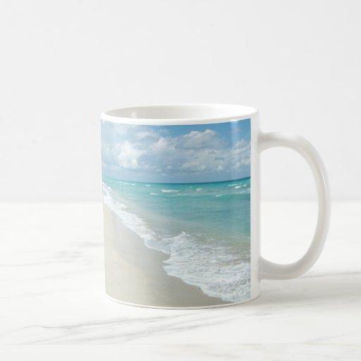 Extreme Relaxation Beach View White Sand Classic White Coffee Mug