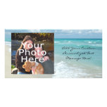 Extreme Relaxation Beach View White Sand Photo Cards