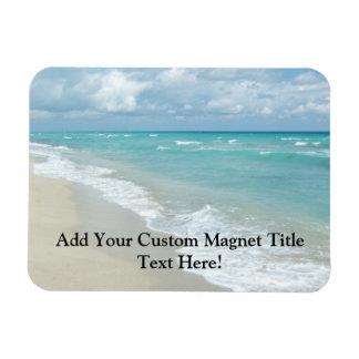 Extreme Relaxation Beach View White Sand Rectangular Photo Magnet