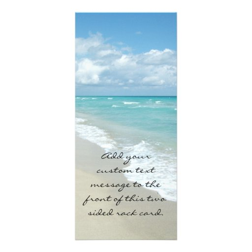 Extreme Relaxation Beach View White Sand Rack Cards