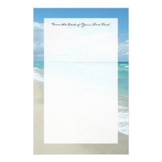 Extreme Relaxation Beach View White Sand Customized Stationery