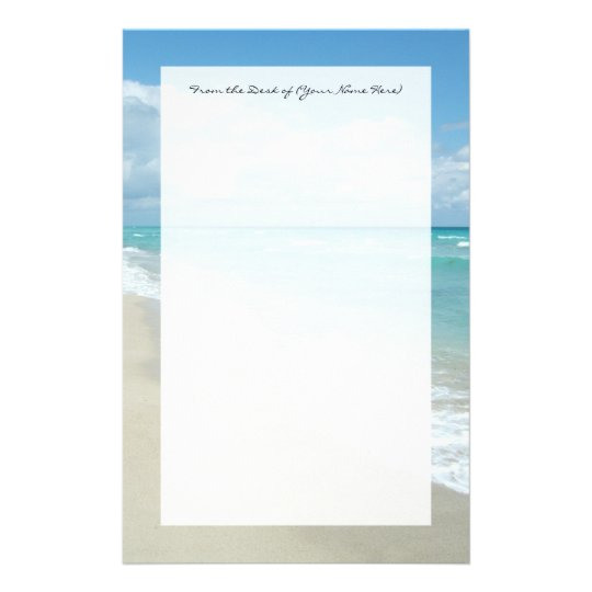 Extreme Relaxation Beach View White Sand Stationery