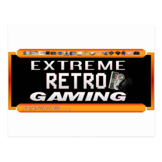 Extreme Retro Gaming Postcard