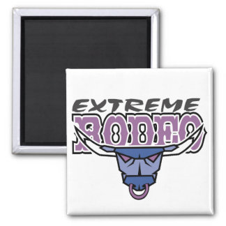 Extreme Rodeo 2 Inch Square Magnet