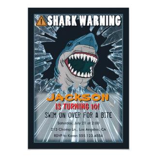 Shark Birthday Party Invitations Announcements Zazzle