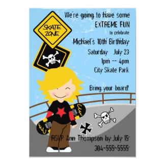 Extreme Skateboard Party Card