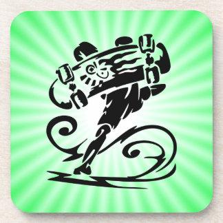 Extreme Skateboarder; Green Coaster