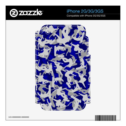 Extreme Skateboarder, snowboarder Camo Skins For iPhone 3G