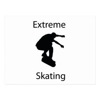 extreme skating postcard