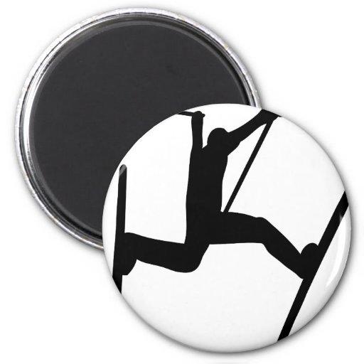 extreme ski jump 2 inch round magnet