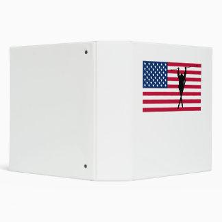 Extreme Skier American Flag Vinyl Binders