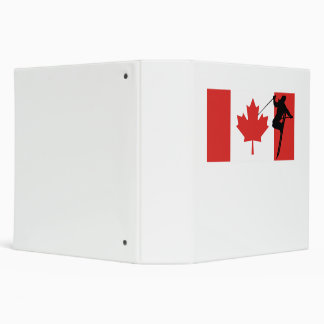 Extreme Skier Canadian Flag Vinyl Binder