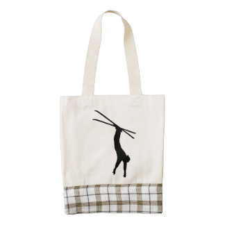 Extreme Skier Zazzle HEART Tote Bag