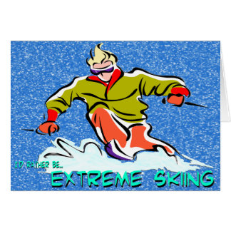 Extreme Skiing Card