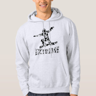 EXTREME SNOWBOARDER IN URBAN CAMO HOODIE