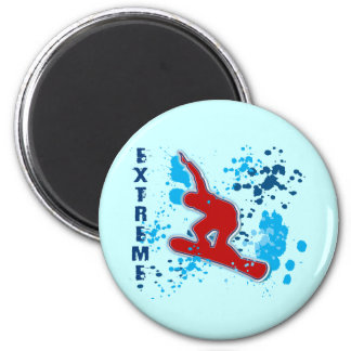 EXTREME SNOWBOARDING REFRIGERATOR MAGNETS