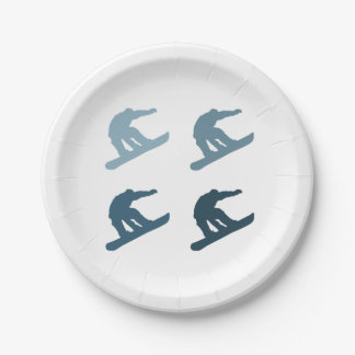 Extreme Snowboarding Paper Plate