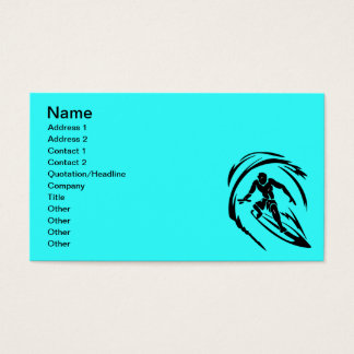 extreme_sport_003 SURFING DUDE TATTOO TRIBAL Business Card