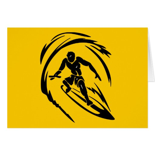 extreme_sport_003 SURFING DUDE TATTOO TRIBAL Card
