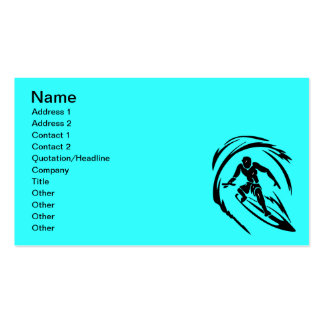 extreme_sport_003 SURFING DUDE TATTOO TRIBAL Double-Sided Standard Business Cards (Pack Of 100)