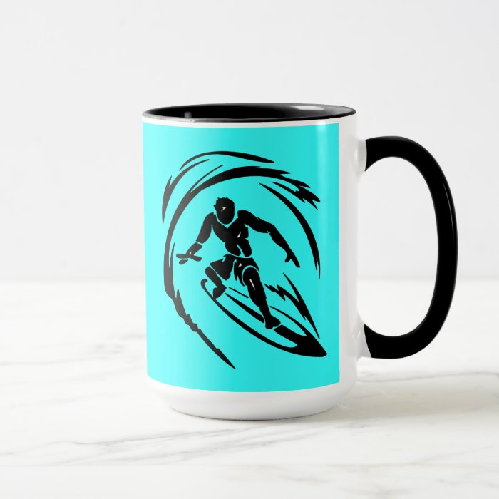 extreme_sport_003 SURFING DUDE TATTOO TRIBAL Mug