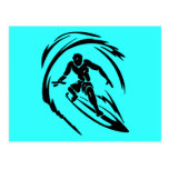 extreme_sport_003 SURFING DUDE TATTOO TRIBAL Post Card