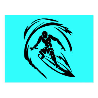 extreme_sport_003 SURFING DUDE TATTOO TRIBAL Postcard