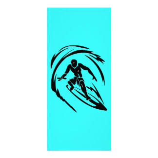 extreme_sport_003 SURFING DUDE TATTOO TRIBAL Rack Card Template