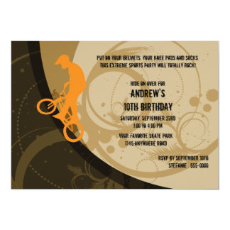 Extreme Sports Birthday Invitation