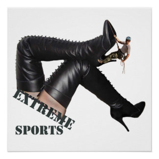 Extreme Sports - BOOT Climbing Poster