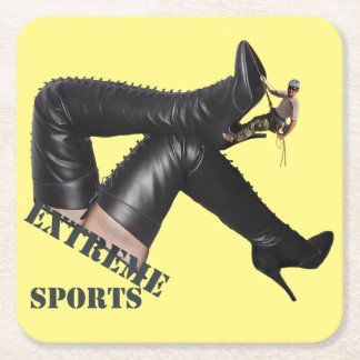 Extreme Sports - BOOT Climbing Square Paper Coaster