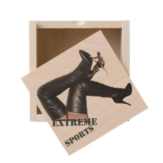 Extreme Sports - BOOT Climbing Wooden Keepsake Box