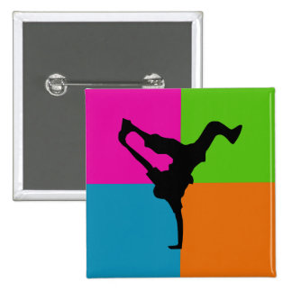 extreme sports - capoeira 2 inch square button