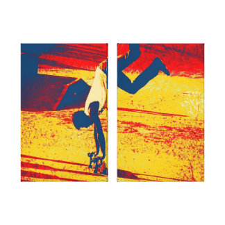 Extreme Sports Freestyle Skateboard Trick Canvas Print