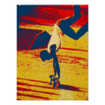 Extreme Sports Freestyle Skateboard Trick Poster