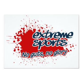 Extreme Sports invitation, customize Card